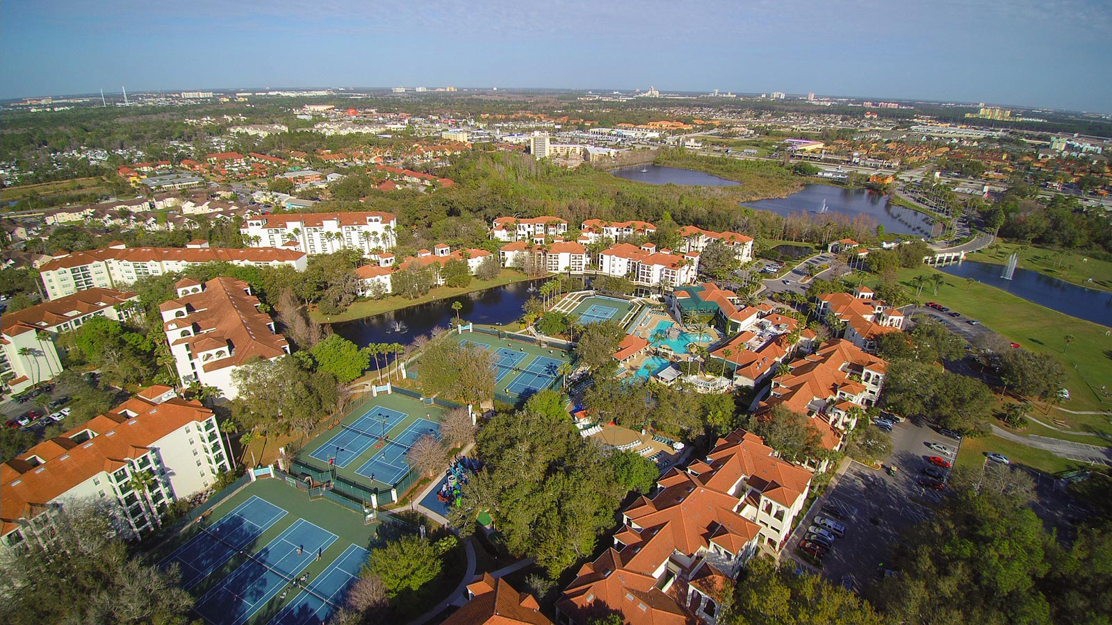 Aerial View of Star Island Resort and Club in Orlando, Florida