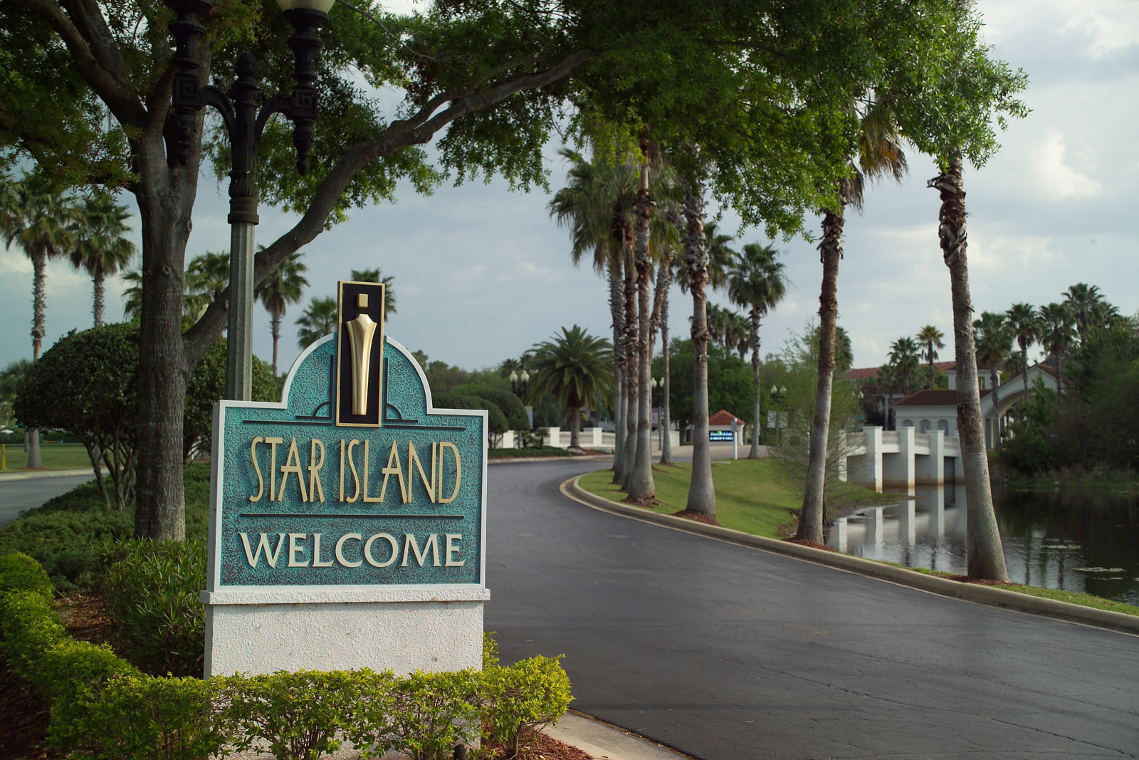 Entrance to Star Island Resort and Club in Orlando, Florida